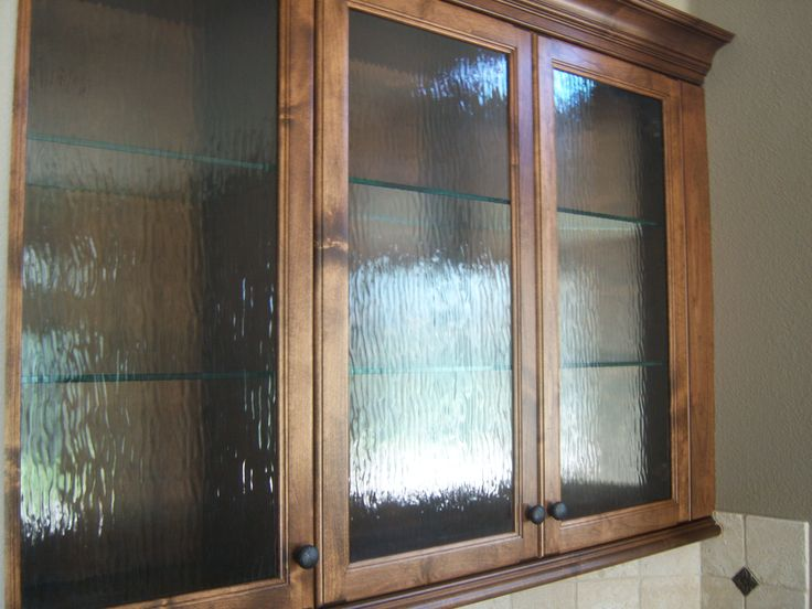 Unique glass cabinet doors water glass in custom cabinet doors kitchen 2 pinterest - Custom cabinet doors toronto ...