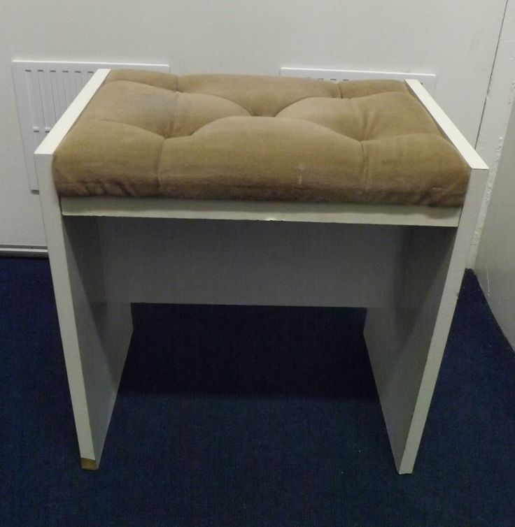 White Dressing Table Stool | Footstool | Ideal Shabby Chic Project One only call 01527523070