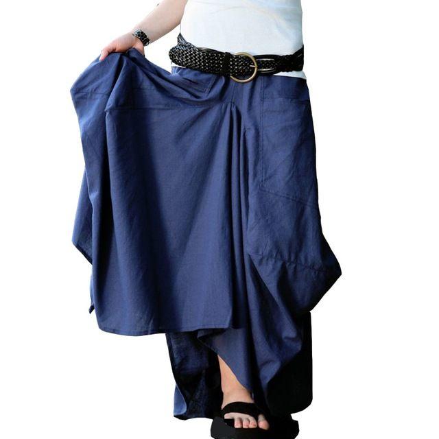 Новый Юбка Saias Femininas Твердые Юбки Женская Оригинальный Дизайн длинная Юбка Большой Карман Saia лонга Макси Повседневная Белье Юбка
