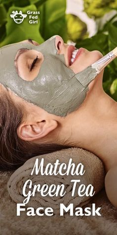 Matcha Green Tea Face Mask | http://www.grassfedgirl.com/matcha-green-tea-face-mask/