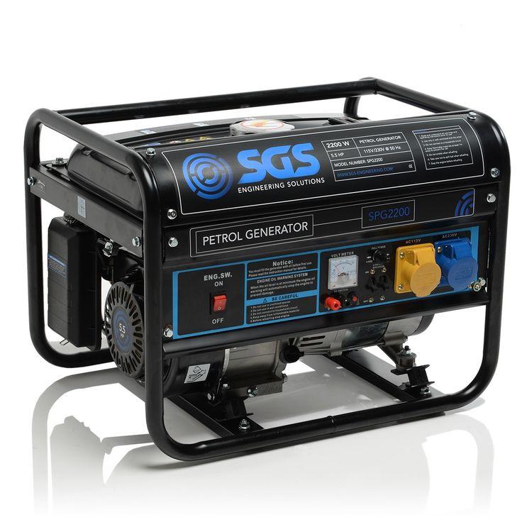 2.2 kW / 2.8 kVA Portable Petrol Generator | 4-Stroke 5.5 HP