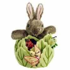 Beatrix Potter shop - Rabbit Puppet In Lettuce With 3 Mini Finger Puppets