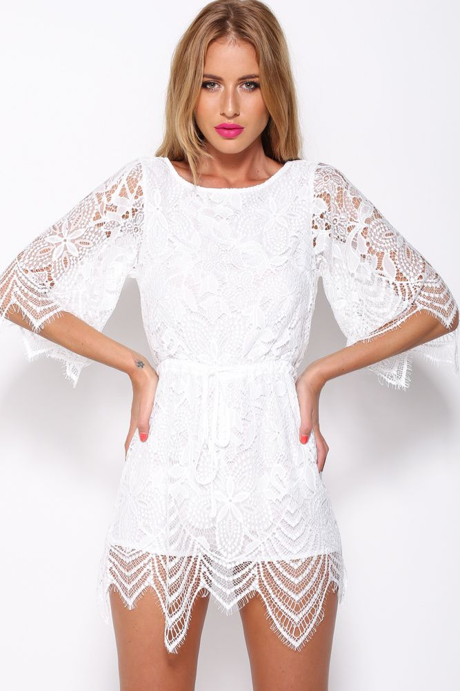 Edge Of The Evening Playsuit White