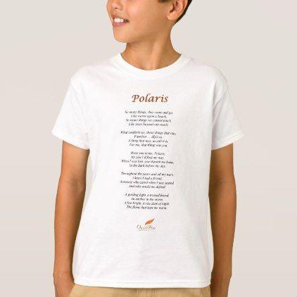 Polaris Poem on T-Shirt - birthday diy gift present custom ideas