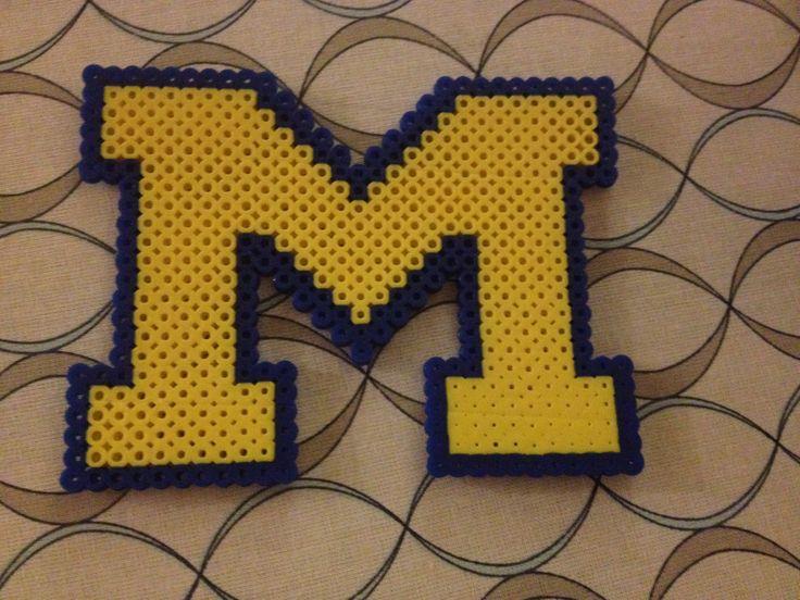 Uofm University Of Michigan Perler Bead Pattern Cross