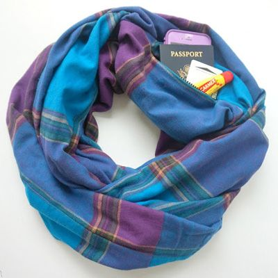 A Traveler's Must Have Accessory: Travel Scarf with Secret Pocket!