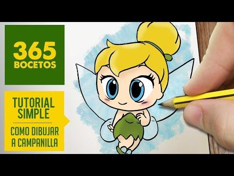 COMO DIBUJAR CAMPANILLA PASO A PASO - Dibujos kawaii faciles - How to draw a Tinkerbell - YouTube