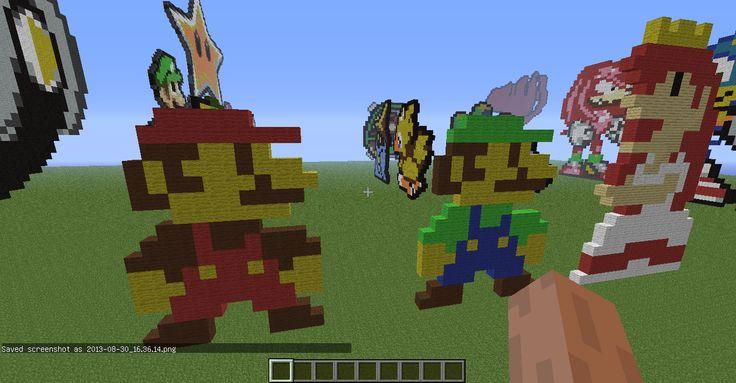Luigi Pixel Art Minecraft Project - planetminecraft.com