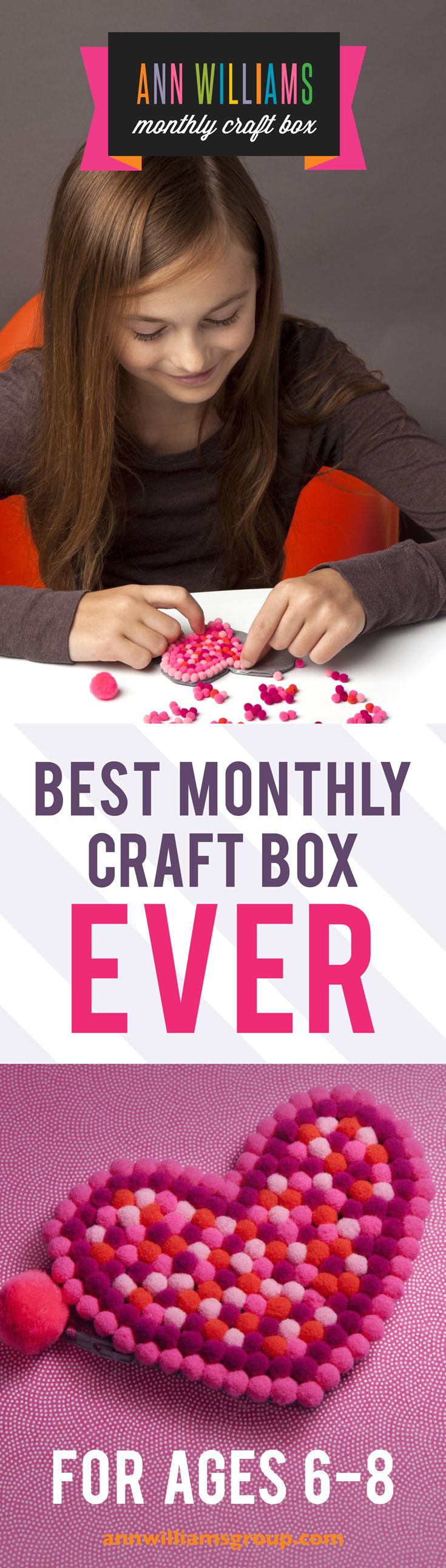 Get crafty with our Monthly Craft Subscription Box for kids!