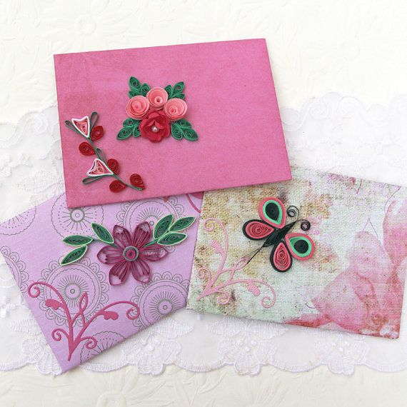 Envelopes Paper Quilling Mini Small Gift Card Holder ...