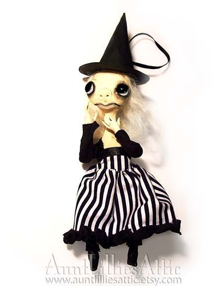 ooak witch ornament halloween decoration - Etsy Halloween Decorations