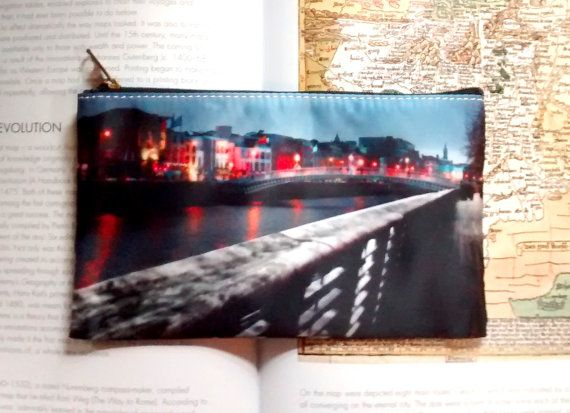 Pencil Case/Makeup Bag. Dublin City by CandyMountainPhotos on Etsy, €7.00