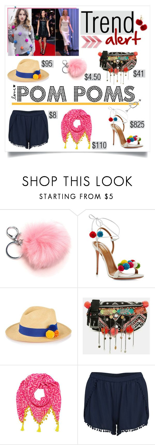"""pom pom trend"" by divacrafts ❤ liked on Polyvore featuring Aquazzura, Prymal, ASOS, Mercy Delta, VILA, Michael Kors and Original"