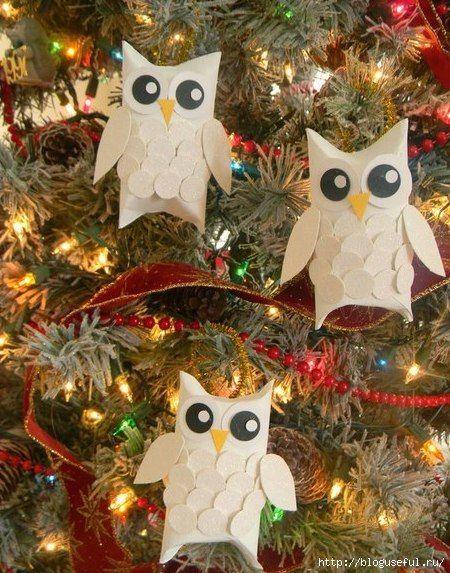 К Новогоднему празднику совы из бумаги / Моё счастье