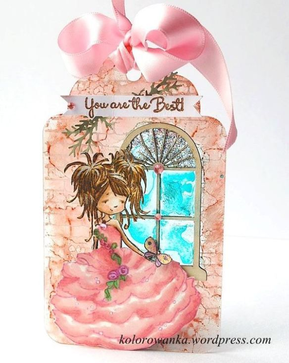acrylic tag by LM and window chipboard