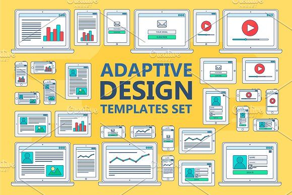 Stroked Adaptive Design Elements by barsrsind on @creativemarket