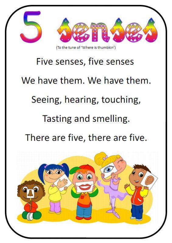 Printable song for revising the 5 senses with your students.