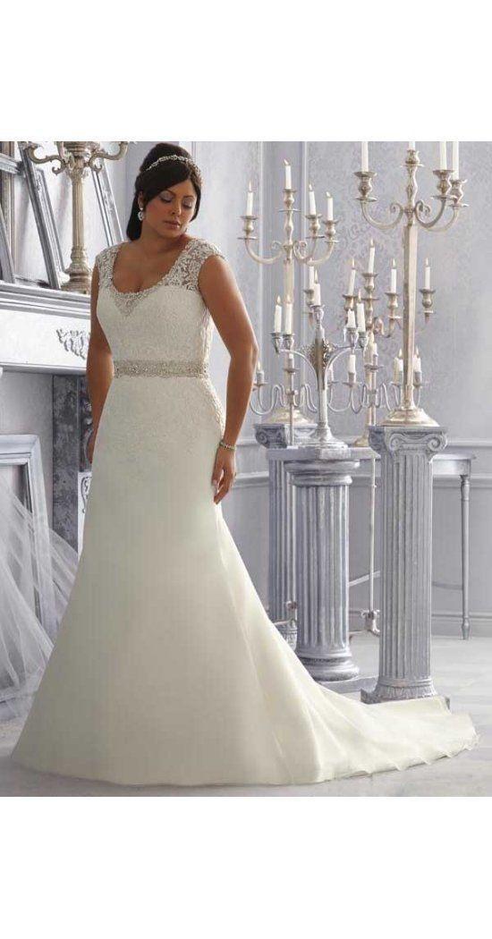 Neue Stile A-Linie U-Ausschnitt Sweep/Pinsel Zug aus Organza Günstige Hochzeitskleider für Mollige – #ALinie #aus #für #Günstige #Hochzeitskle