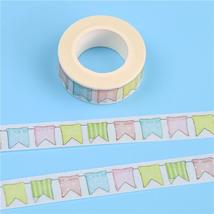 Barato 1 Pc/pacote 15mm * 10 m Fita Adesiva de Papel Washi Japonês Fita Adesiva Decorativa Bandeiras Padrão Diário Etiqueta do Presente frete Grátis, Compro Qualidade Escritório Fita Adesiva diretamente de fornecedores da China: [xlmodel]-[custom]-[25522]descriçãocondiçãoNova marca + de Alta Qualidade!Materiale papelpesosobre: 14gcorMulticolortama