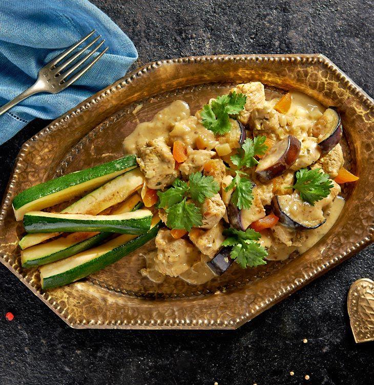 Kurczak curry z imbirem i limonką