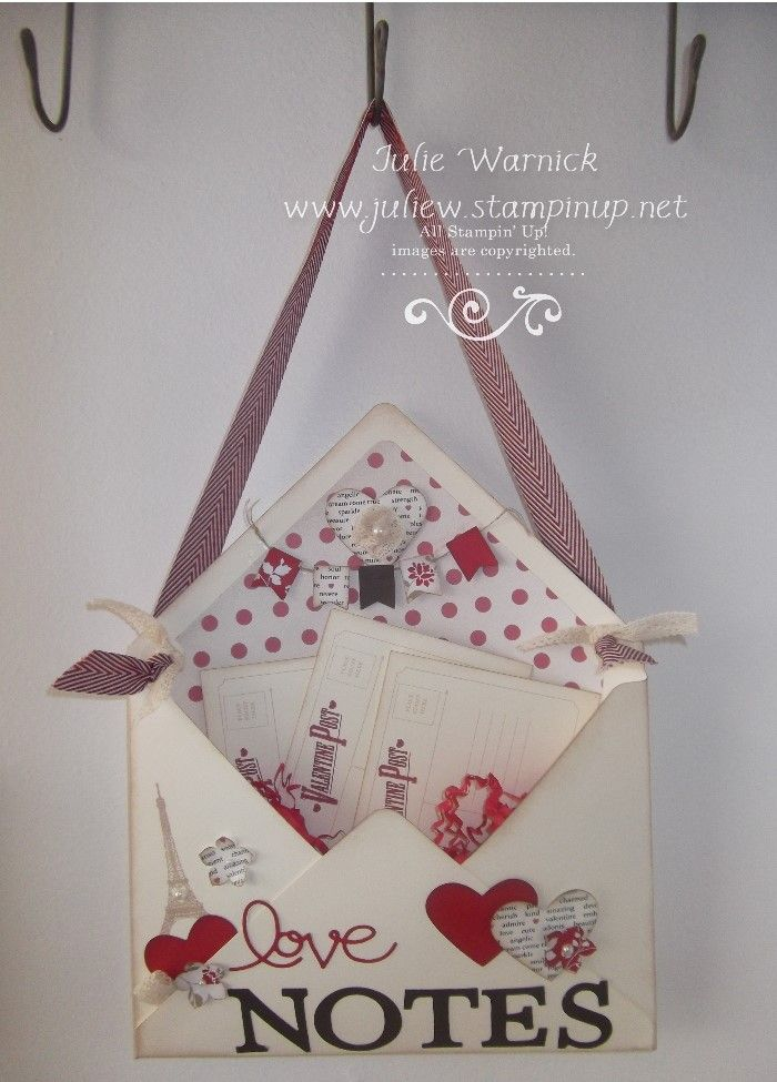 Love note holder using the Envelope Punch Board
