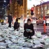 10,000 Glowing Books Spill Into Streets of Melbourne in Luzinterruptus' LED Installation Luzinterruptus Literature VS Traffic Recycled Book LED Installation – Inhabitat - Sustainable Design Innovation, Eco Architecture, Green Building