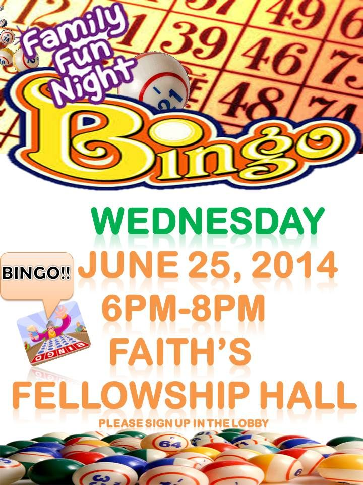 Family Fun Night Flyer Bingo