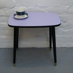 Vintage formica topped side table vintageactually.co.uk
