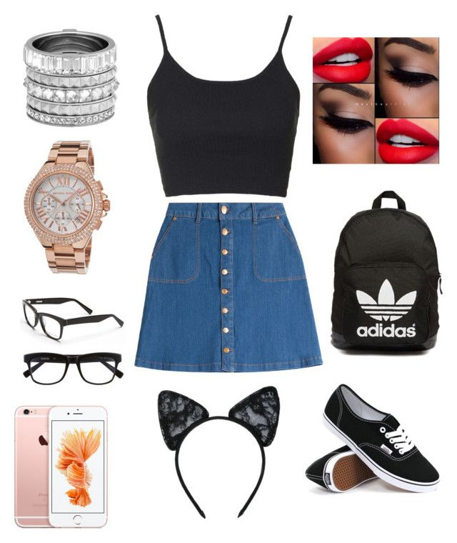 """"" by tumblrcake on Polyvore featuring beauty, HUGO, Topshop, Vans, adidas Originals, Henri Bendel, Michael Kors, Derek Lam and Maison Close"