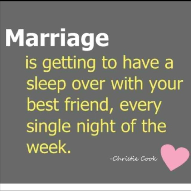 :) this is so cute. i hope i feel like this about marriage one day <3