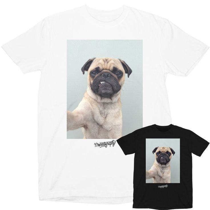 Pugerrific photo printed on a black premium 5.5 oz ringspun cotton tee for exceptional comfort and quality.Care instructions:Machine wash cold, hang to dry