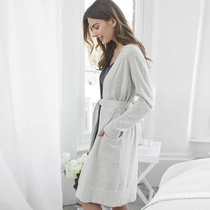 Short Cashmere Robe | Robes | Nightwear & Robes | Clothing | The White…