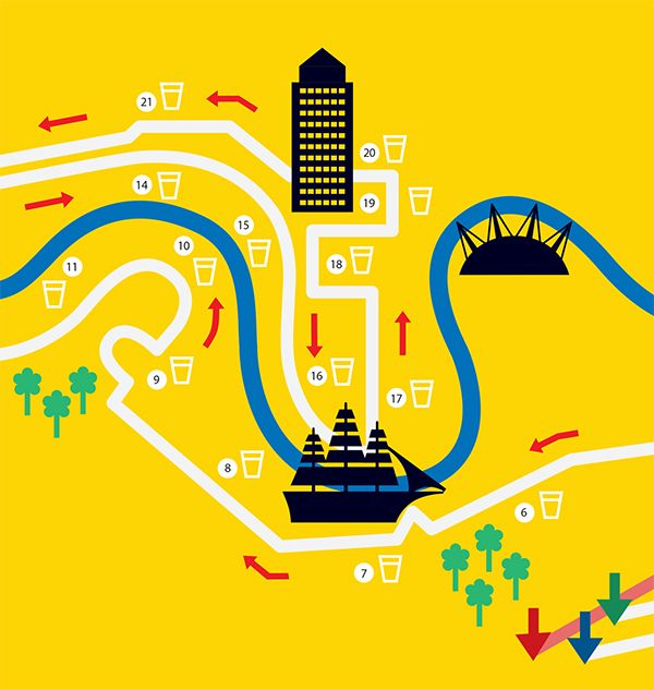 London Marathon Map