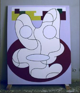 Olivier Gourvil, Algun, 2003, oil and acrylic on canvas, 142 x 178 cm