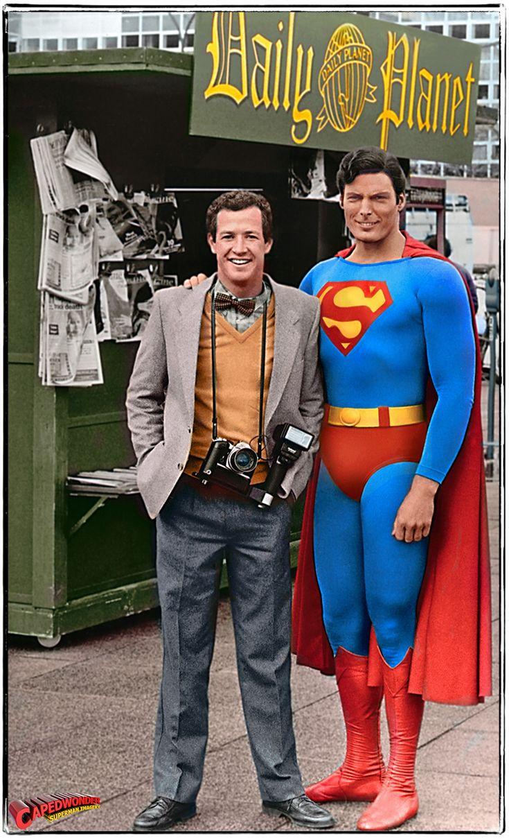 Superman Movie Poster Man of Steel Jimmy Olsen Christopher Reeve DC Comics Superheroes Superhero