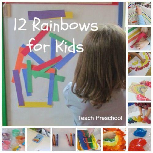 Twelve Rainbows for Kids by Teach Preschool