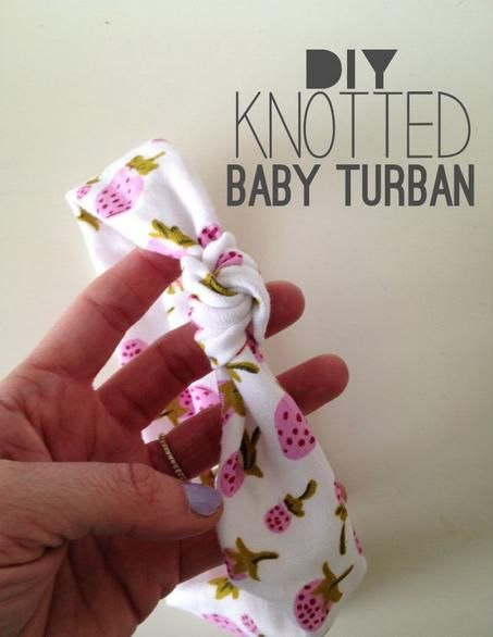DIY Knotted baby turban