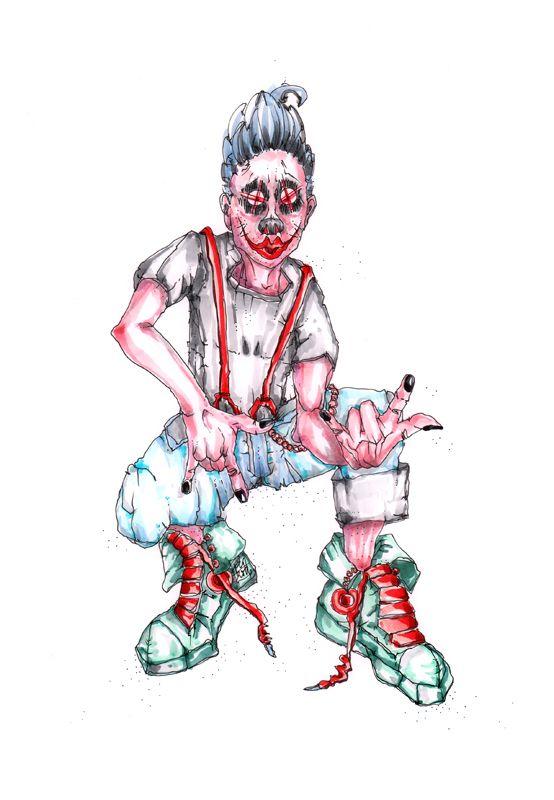Falentin Höschen: sein Name ist Programm, ihm fliegen schon in seinem jugendlichen Alter alle Höschen zu, er braucht keinen Spitznamen, er ist zu cool dafür, er sonnt sich schon jetzt in seinem Glanze, das darf er auch und auch weiß er, dass Candice in ihn verliebt ist, aber er hat Angst vor ihr und vor ihrem Bruder  Bild und Text © Nadja Schüller - Ost, 2016 #nadjaschuellerost#falentin_höschen#candice_end_frendz#graphic_novel#scetch#illustration