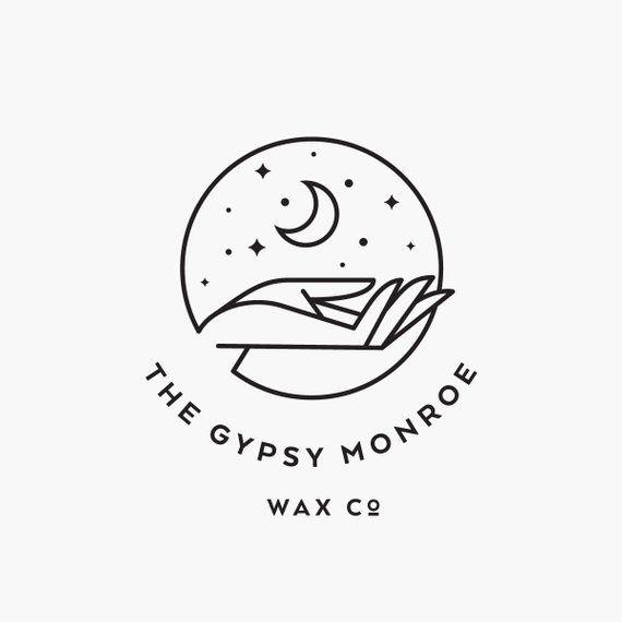 Moon Logo Design | Bohemian Logo Design | Hand Drawn Sketched Logo | Modern Minimalist | Branding | Premade Logo | Logo Template | Moon Logo