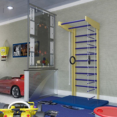 72 best ideas about jungle gym on pinterest rope ladder jungle gym and climbing wall - Cool basement ideas for kids ...