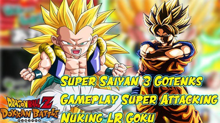 Super Saiyan 3 Gotenks Gameplay Super Attacking & Nuking LR Goku  dbz