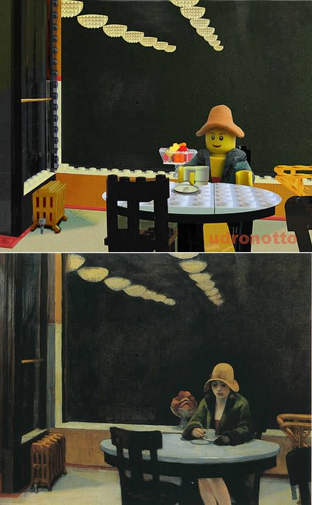 Appropriation Took a famous painting and recreated it using lego!