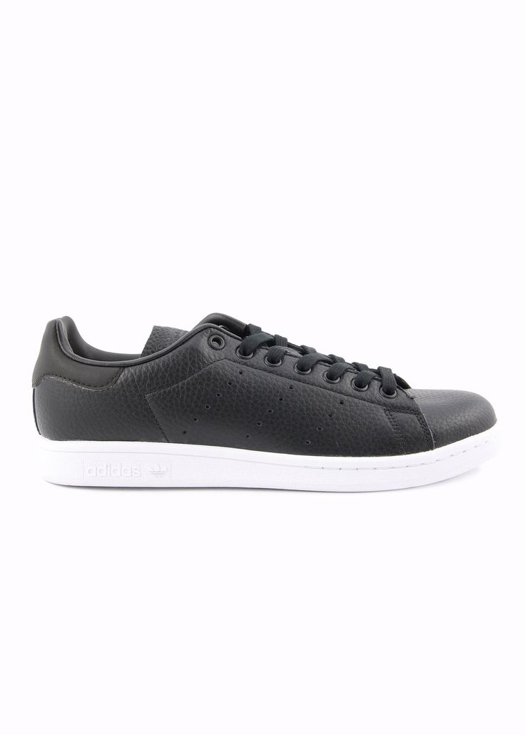 Want Les Essentiels - SS17 - Menswear // Black Stan Smith sneakers in grain leather