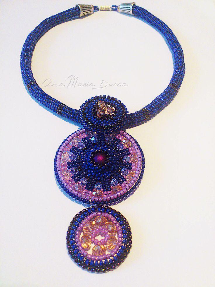 Necklace- Toho beads and Swarovski
