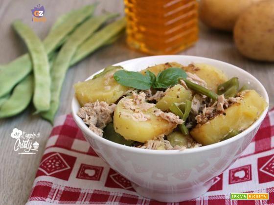 INSALATA FREDDA DI PATATE E TACCOLE  #ricette #food #recipes