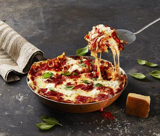 Vegetariese pan-lasagne