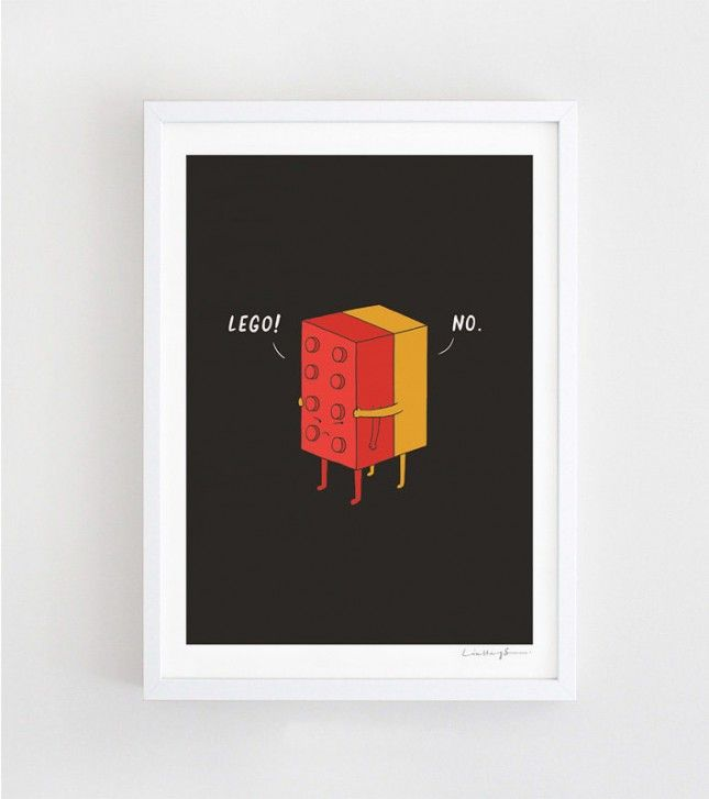 We're loving this lego print. Such a fun Valentine's Day gift idea.