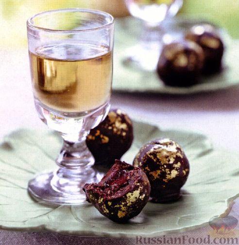 Рецепт: Шоколадные конфеты с вишней на RussianFood.com