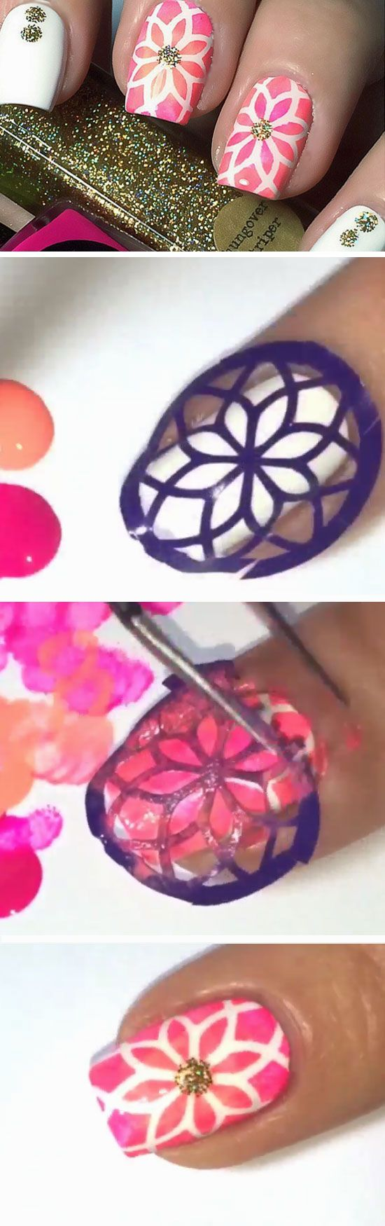 Stained Glass Effect | DIY Beach Nail Art Ideas for Teens