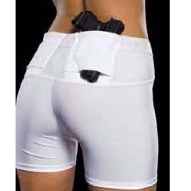Compression shorts with holster for gun! Such a good idea!